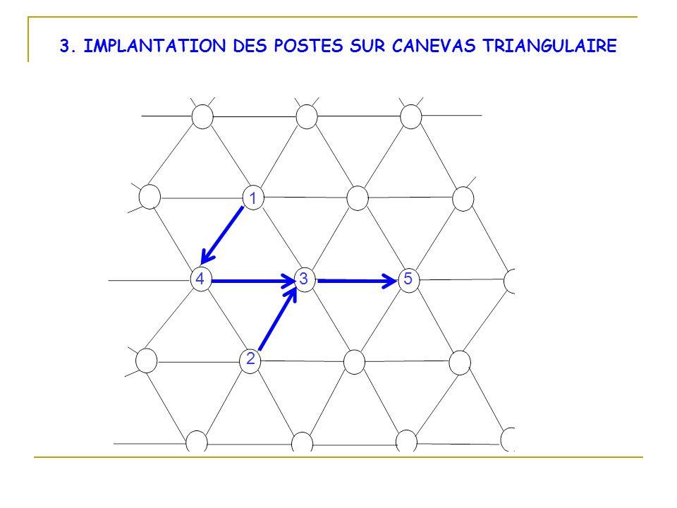 3. IMPLANTATION DES POSTES SUR CANEVAS TRIANGULAIRE