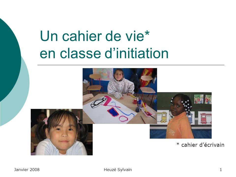 Un cahier de vie* en classe d'initiation