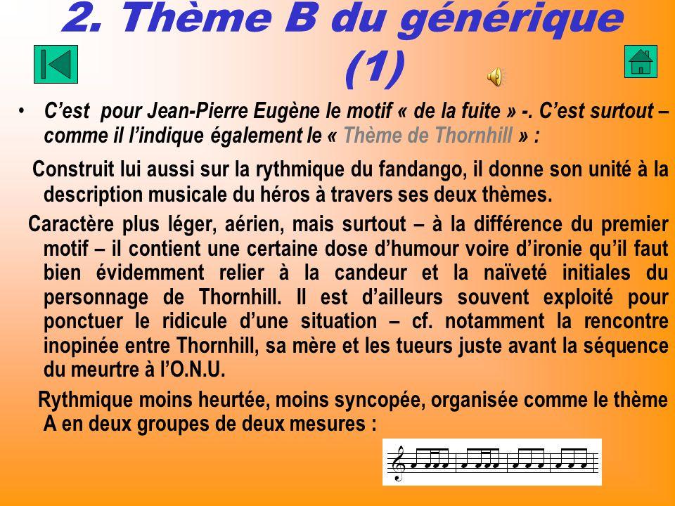 2. Thème B du générique (1)