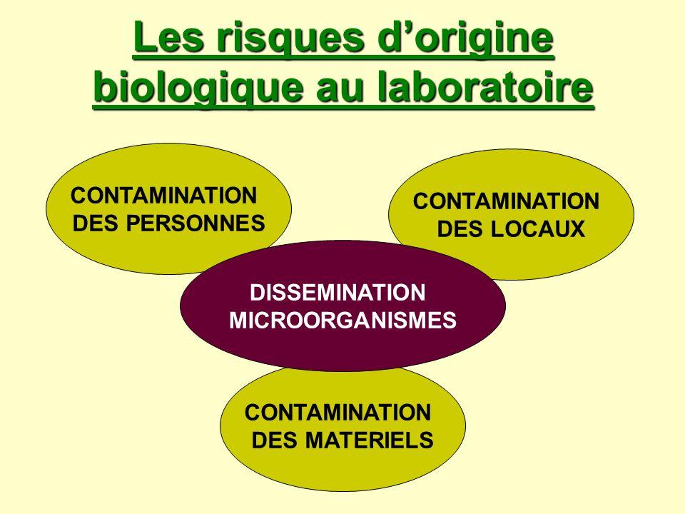 Les risques d'origine biologique au laboratoire