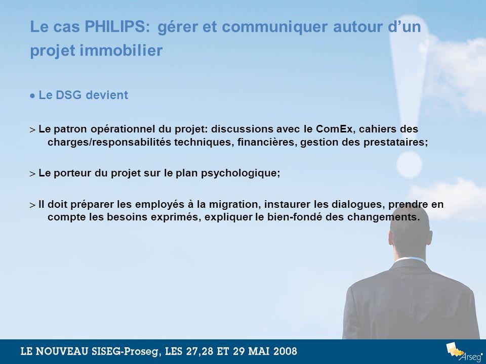 Le cas PHILIPS: gérer et communiquer autour d'un projet immobilier