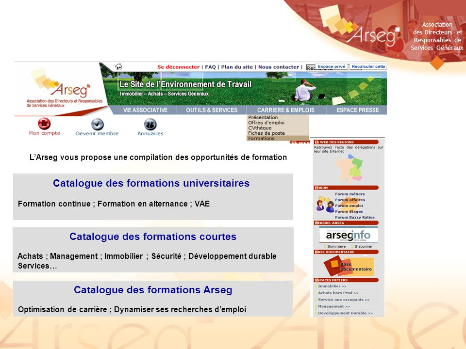 Catalogue des formations universitaires