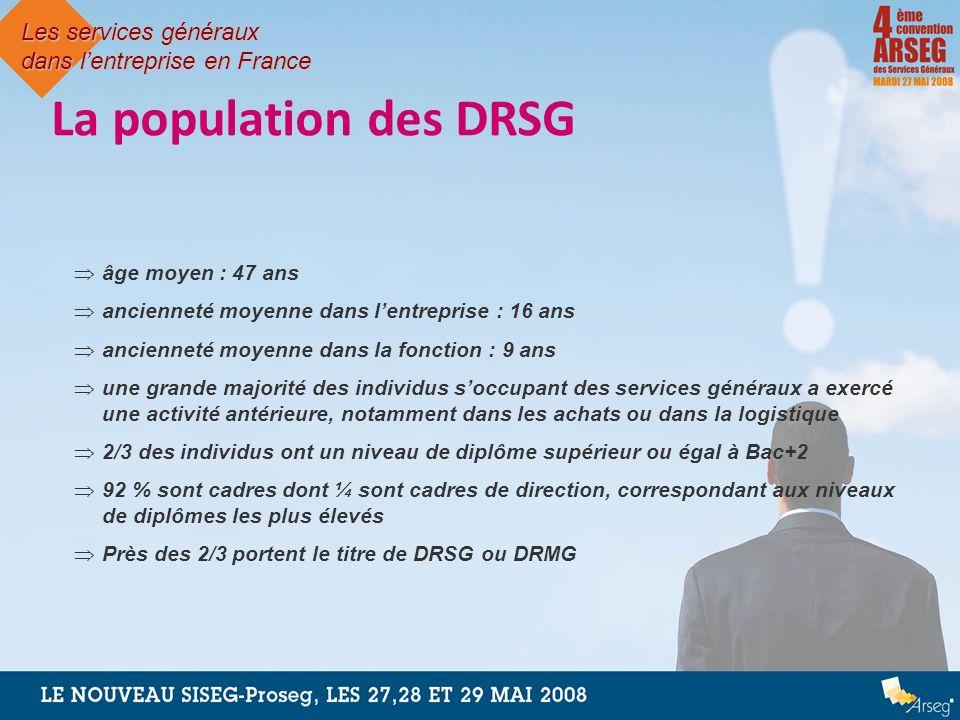 La population des DRSG Les services généraux