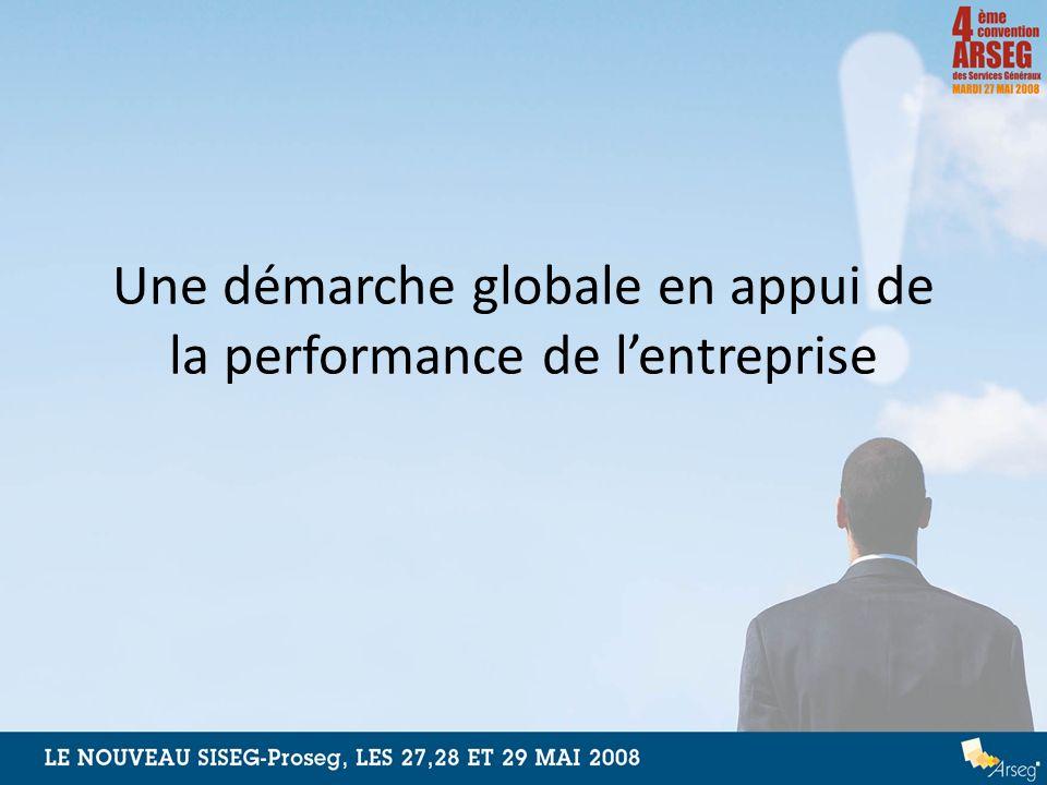 Une démarche globale en appui de la performance de l'entreprise