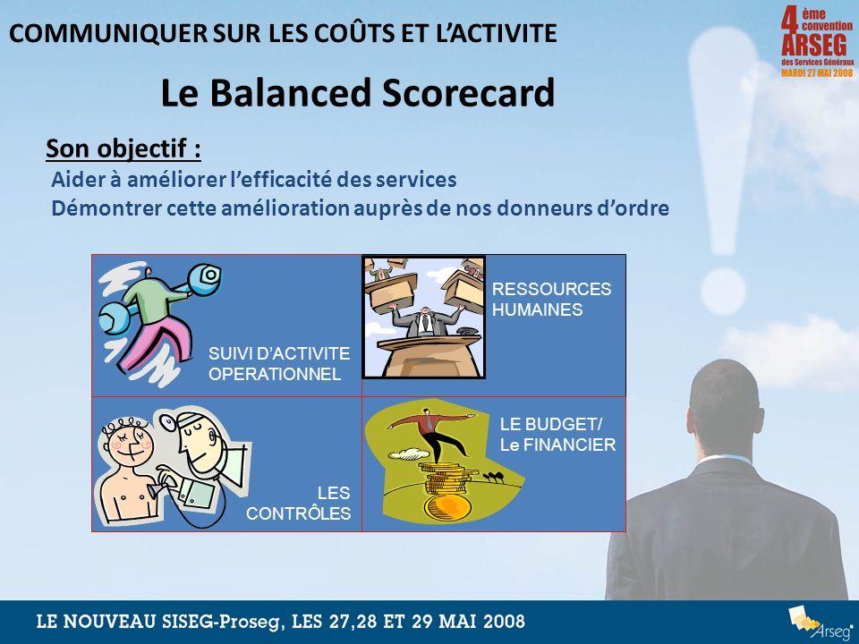 Le Balanced Scorecard COMMUNIQUER SUR LES COÛTS ET L'ACTIVITE
