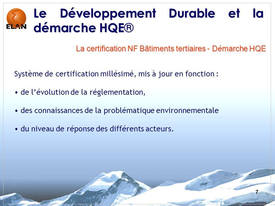 Le Développement Durable et la démarche HQE®