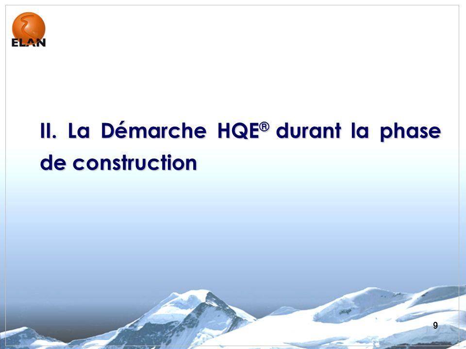 II. La Démarche HQE® durant la phase de construction