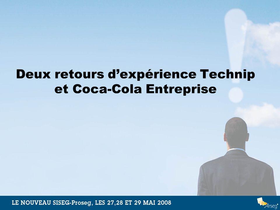 Deux retours d'expérience Technip et Coca-Cola Entreprise