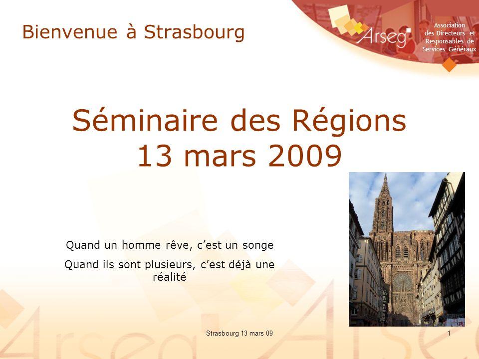 Séminaire des Régions 13 mars 2009