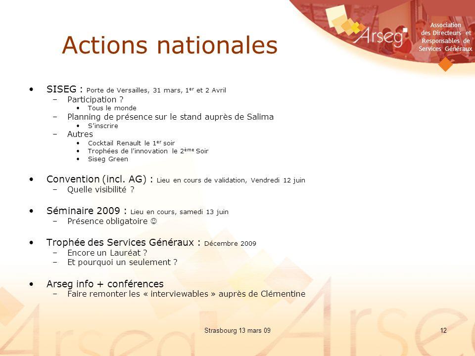 Actions nationales SISEG : Porte de Versailles, 31 mars, 1er et 2 Avril. Participation Tous le monde.