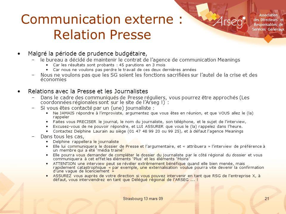 Communication externe : Relation Presse