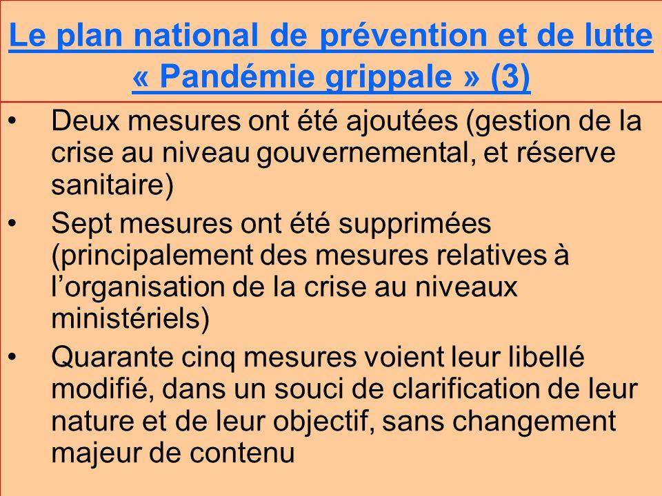 Le plan national de prévention et de lutte « Pandémie grippale » (3)