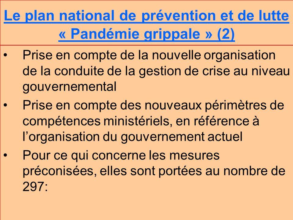 Le plan national de prévention et de lutte « Pandémie grippale » (2)