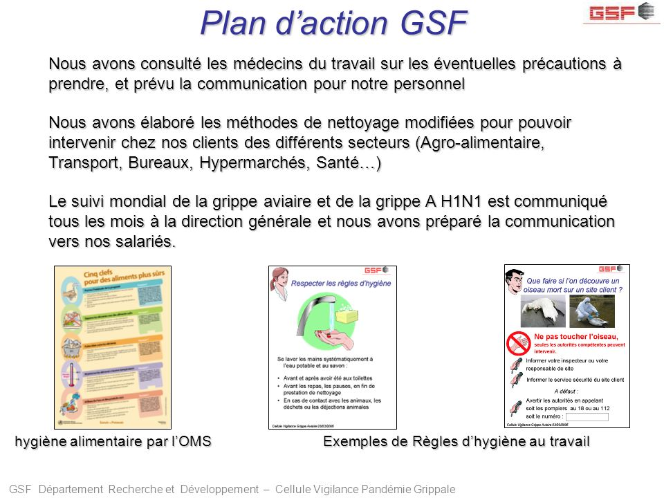 Plan d'action GSF