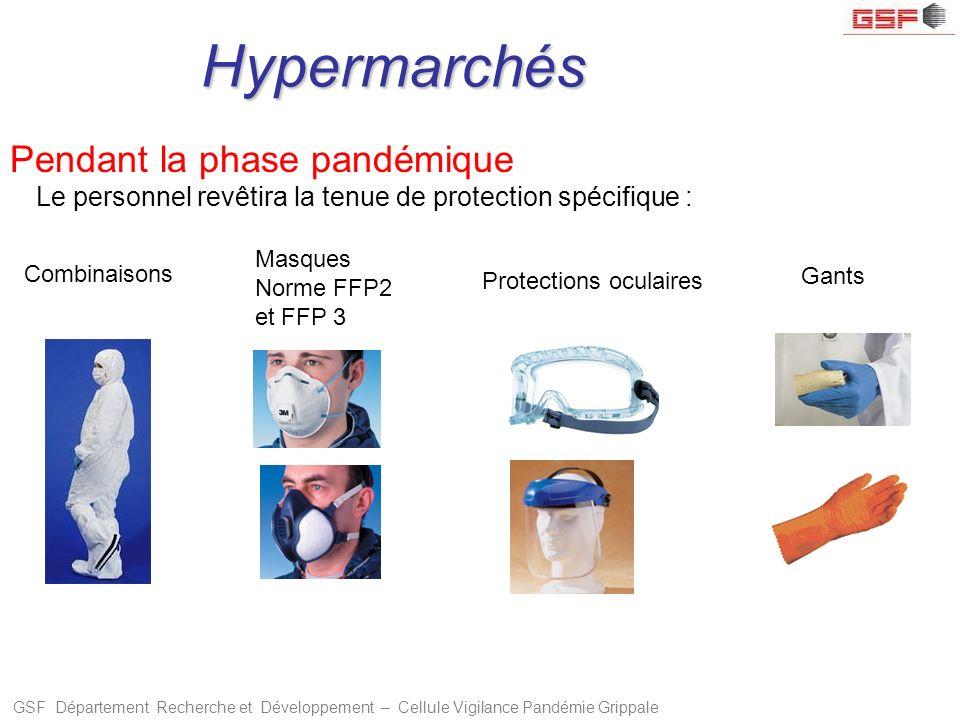 Hypermarchés Pendant la phase pandémique