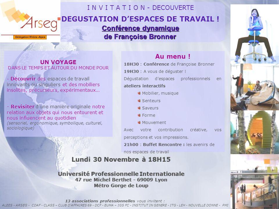 DEGUSTATION D'ESPACES DE TRAVAIL ! Conférence dynamique