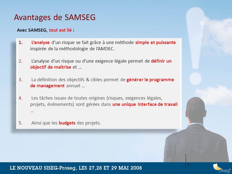 Avantages de SAMSEG Avec SAMSEG, tout est lié :