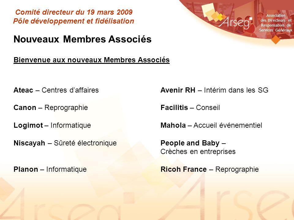 Comité directeur du 19 mars 2009 Pôle développement et fidélisation