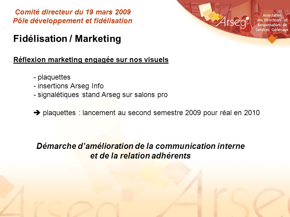 Fidélisation / Marketing