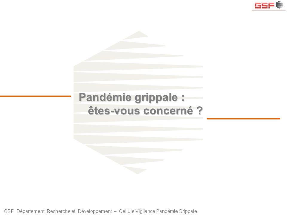 Pandémie grippale : êtes-vous concerné