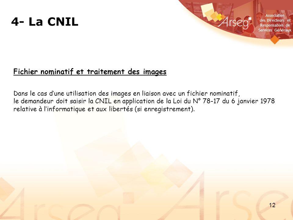 4- La CNIL