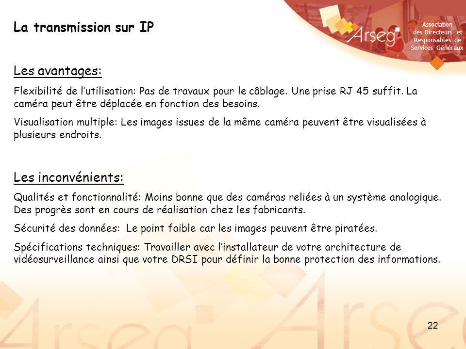 La transmission sur IP Les avantages: Les inconvénients: