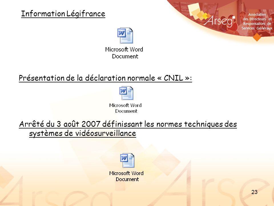 Présentation de la déclaration normale « CNIL »: