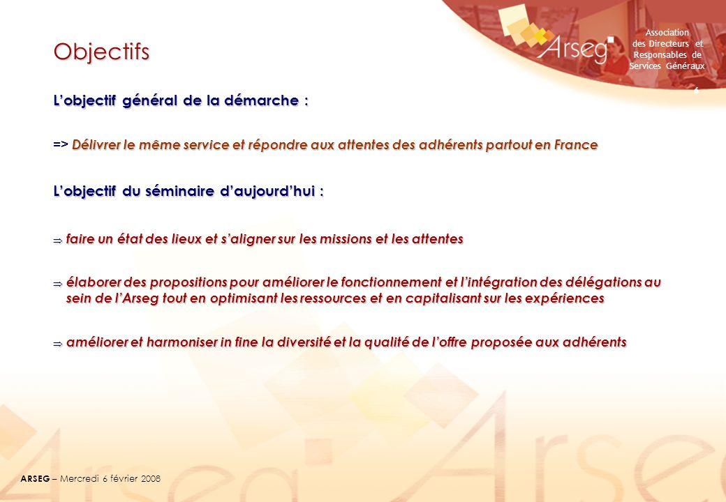 Objectifs L'objectif général de la démarche :
