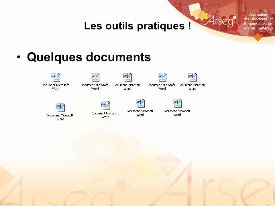Les outils pratiques ! Quelques documents