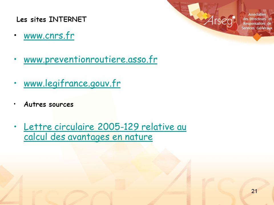 Lettre circulaire 2005-129 relative au calcul des avantages en nature