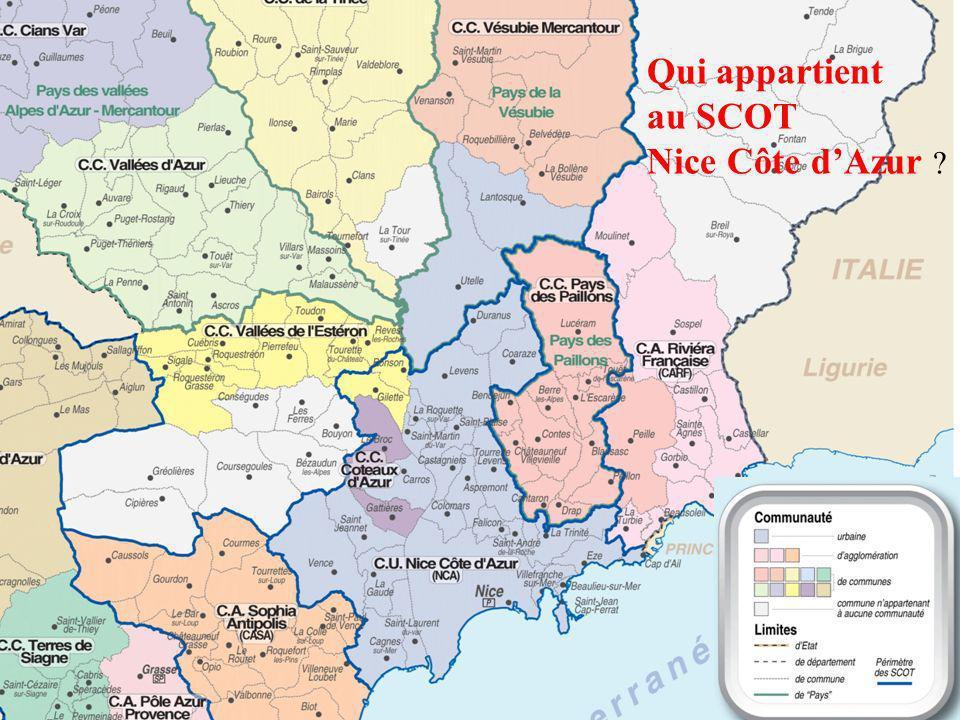 Qui appartient au SCOT Nice Côte d'Azur