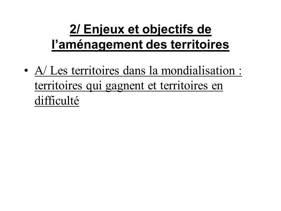 2/ Enjeux et objectifs de l'aménagement des territoires