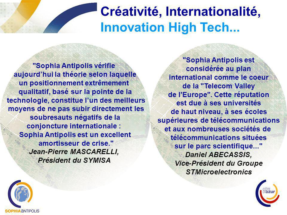 Créativité, Internationalité, Innovation High Tech...