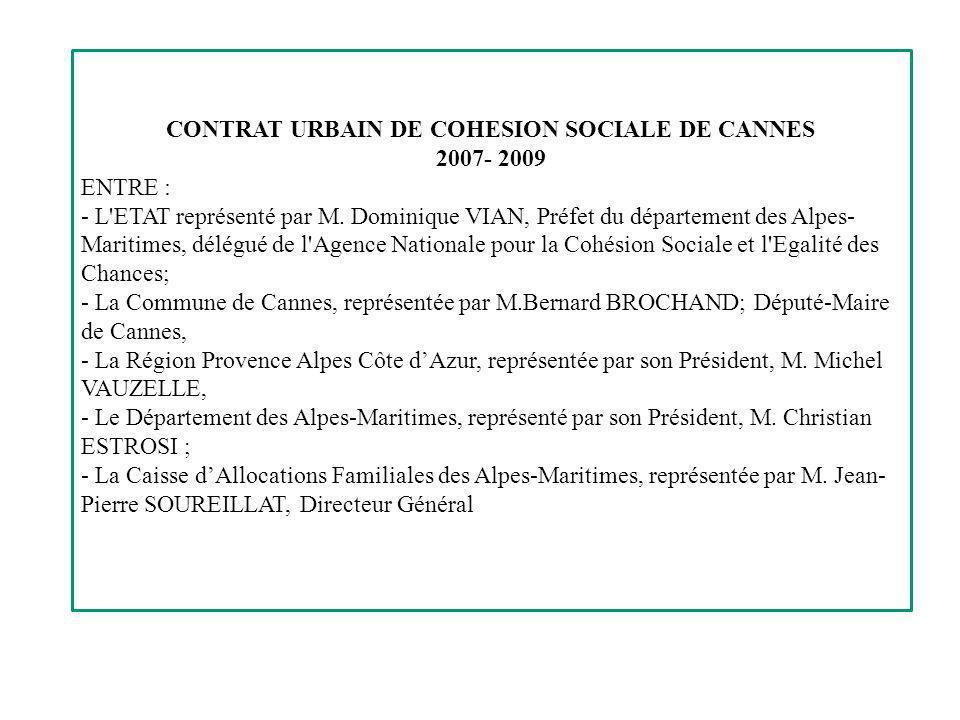 CONTRAT URBAIN DE COHESION SOCIALE DE CANNES