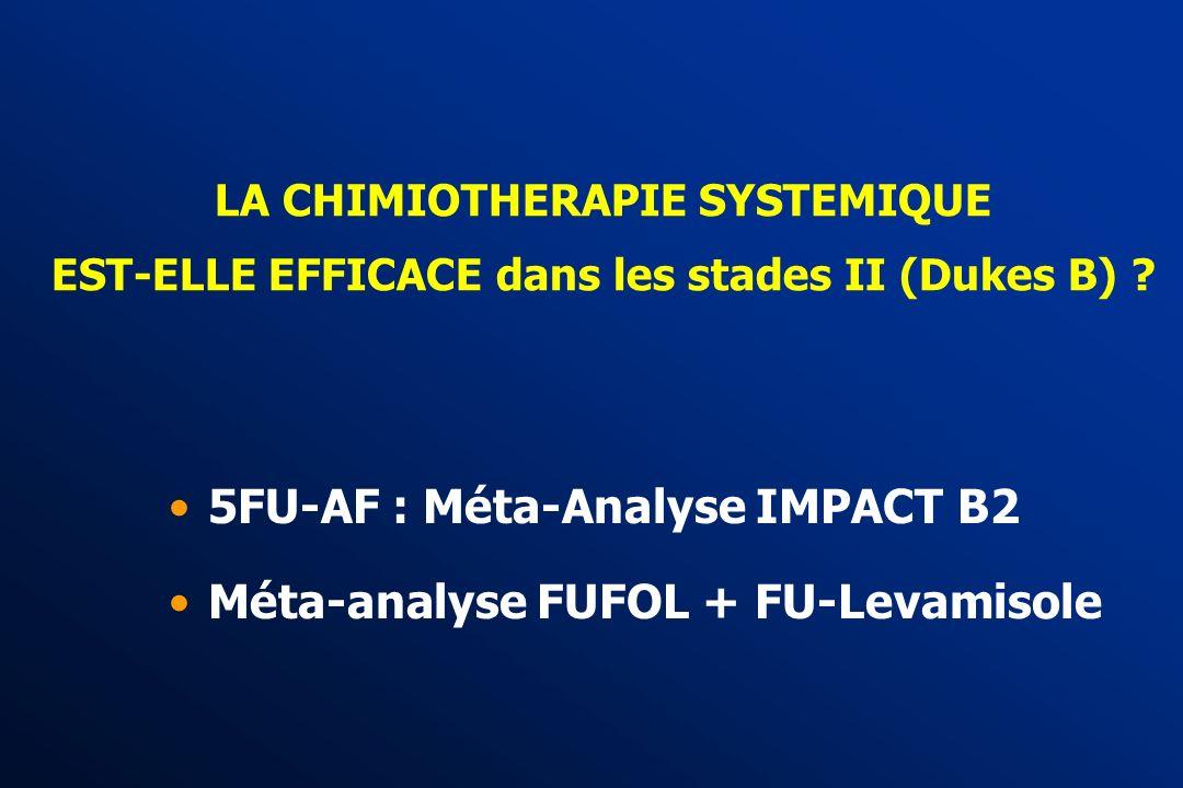 5FU-AF : Méta-Analyse IMPACT B2 Méta-analyse FUFOL + FU-Levamisole