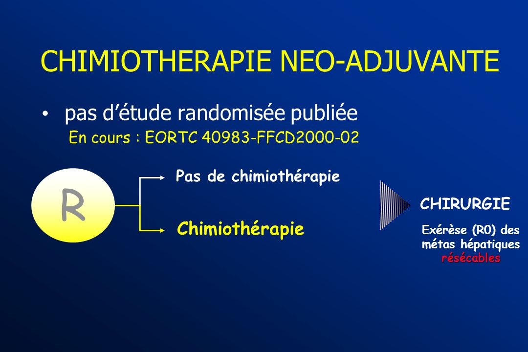 CHIMIOTHERAPIE NEO-ADJUVANTE