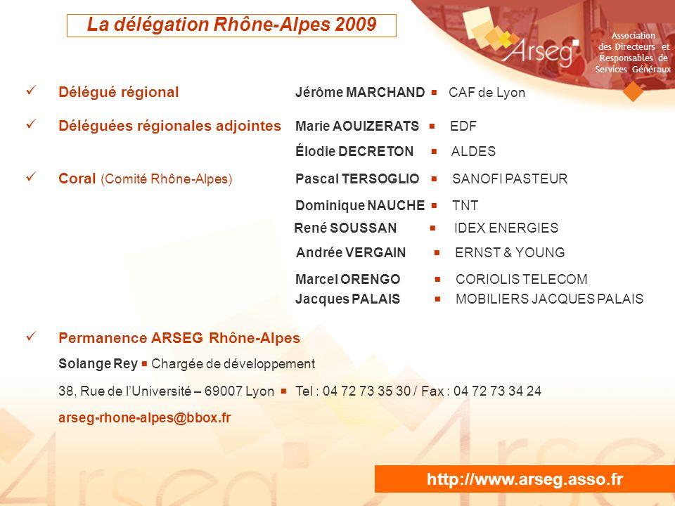 La délégation Rhône-Alpes 2009
