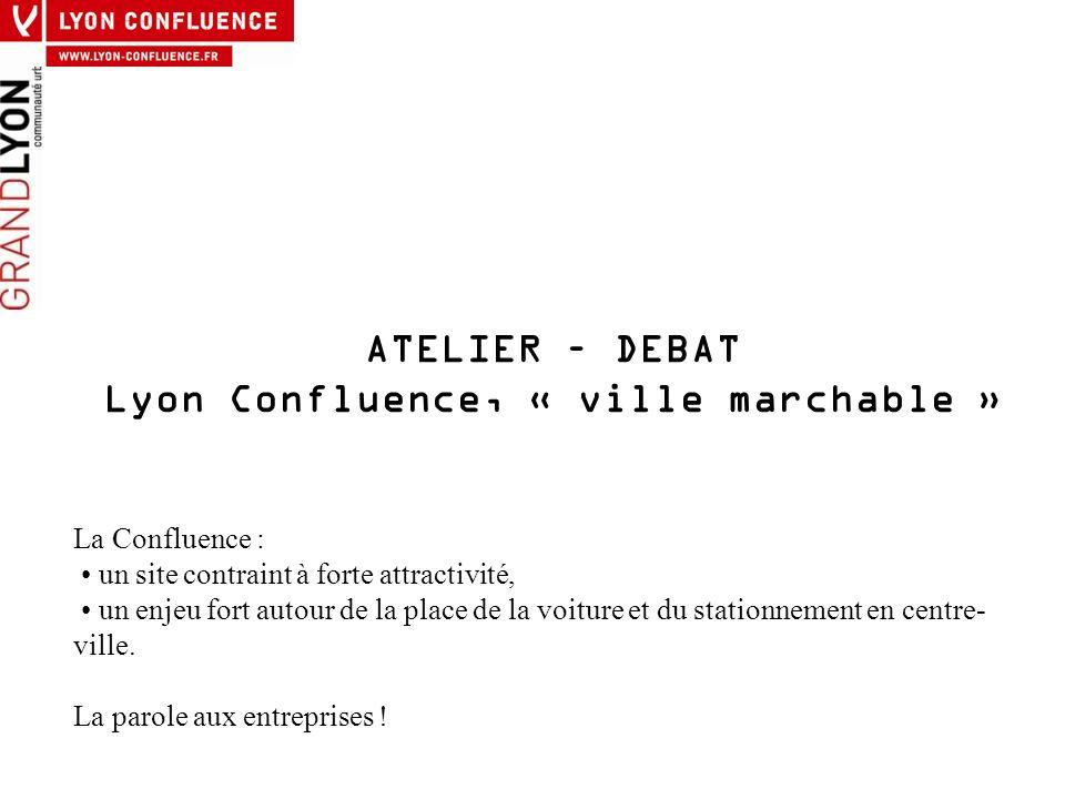 Lyon Confluence, « ville marchable »