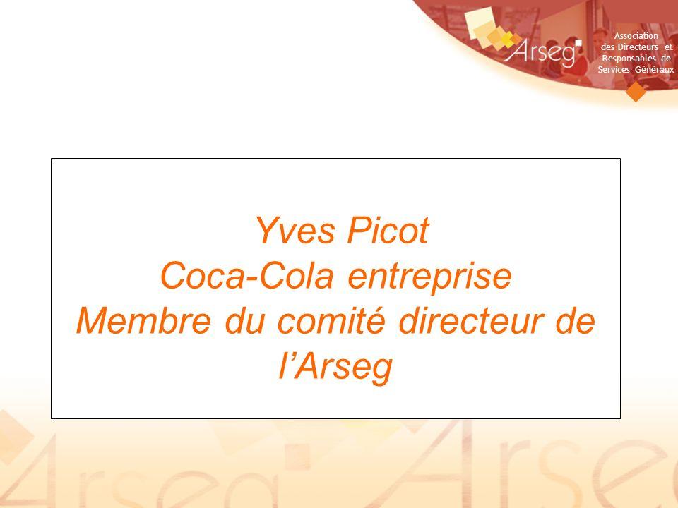 Yves Picot Coca-Cola entreprise Membre du comité directeur de l'Arseg