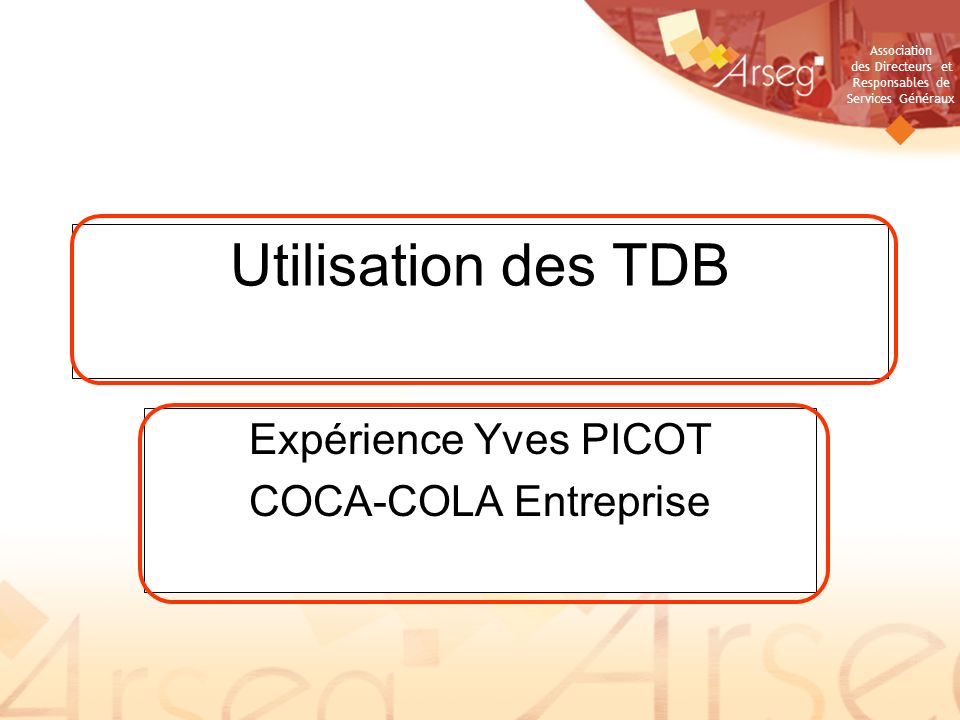 Expérience Yves PICOT COCA-COLA Entreprise