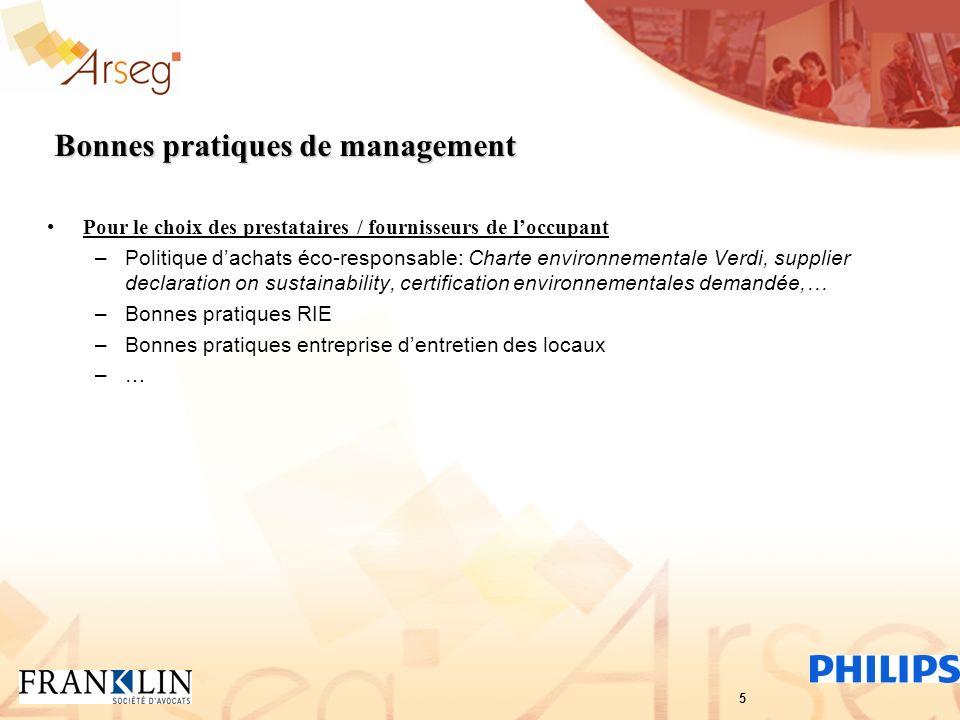 Bonnes pratiques de management