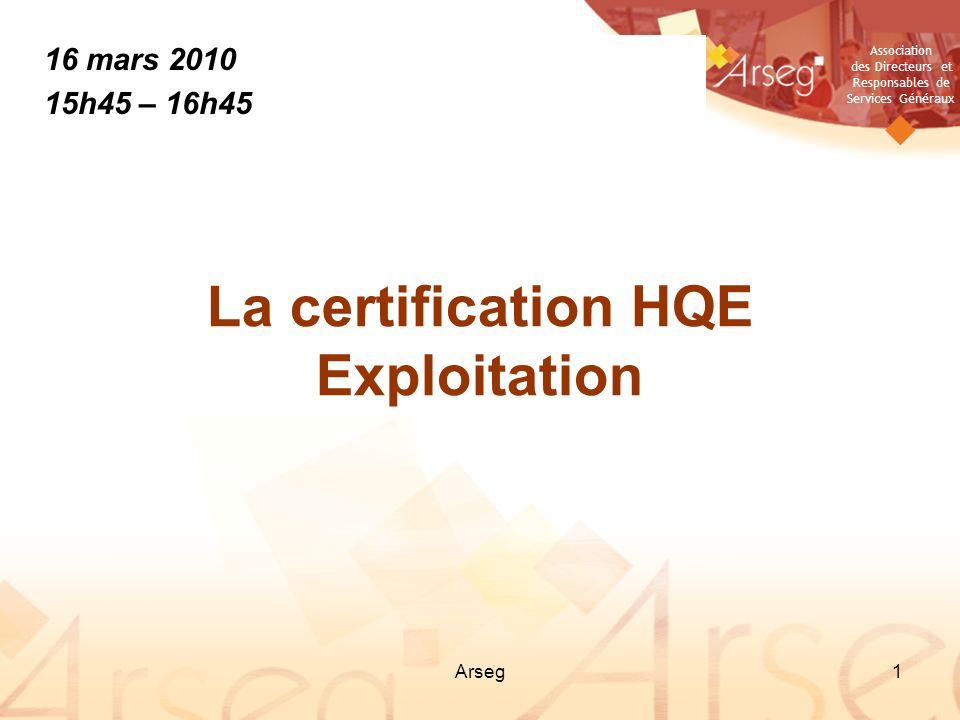 La certification HQE Exploitation