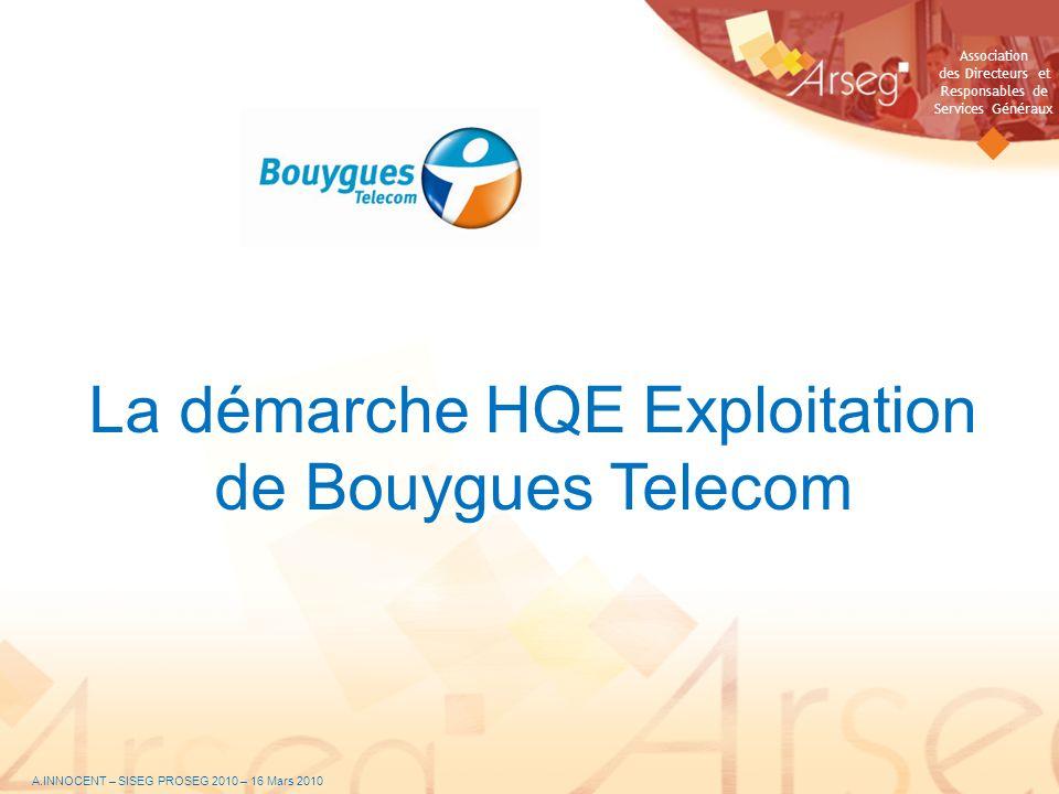 La démarche HQE Exploitation de Bouygues Telecom