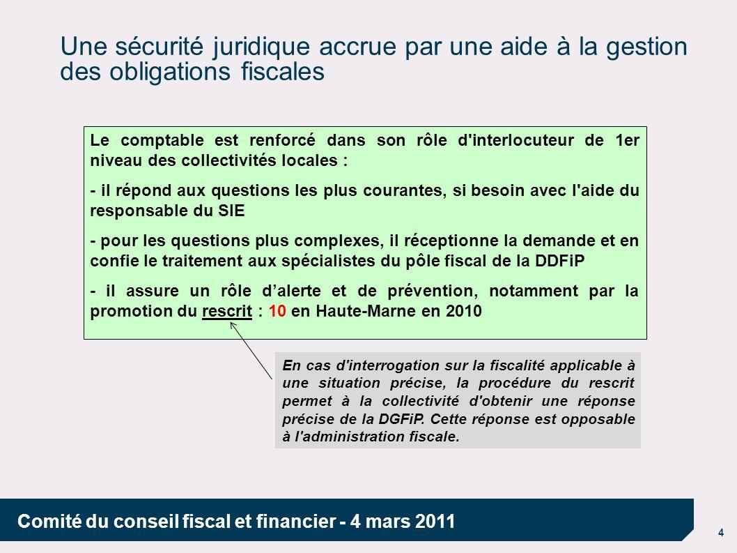 Une sécurité juridique accrue par une aide à la gestion des obligations fiscales