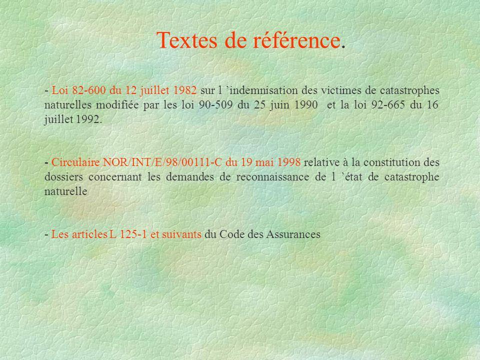 Textes de référence.