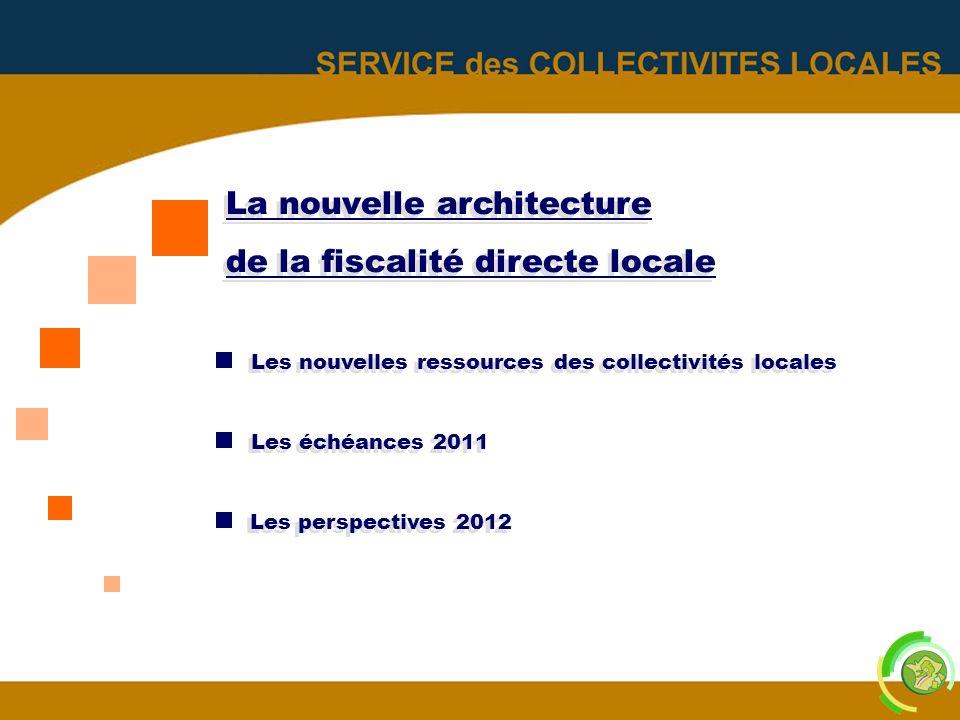 La nouvelle architecture de la fiscalité directe locale