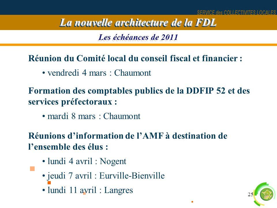 La nouvelle architecture de la FDL