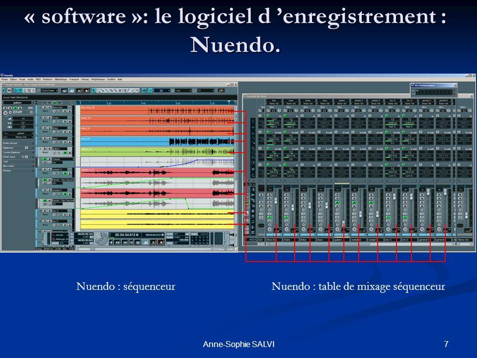 « software »: le logiciel d 'enregistrement : Nuendo.