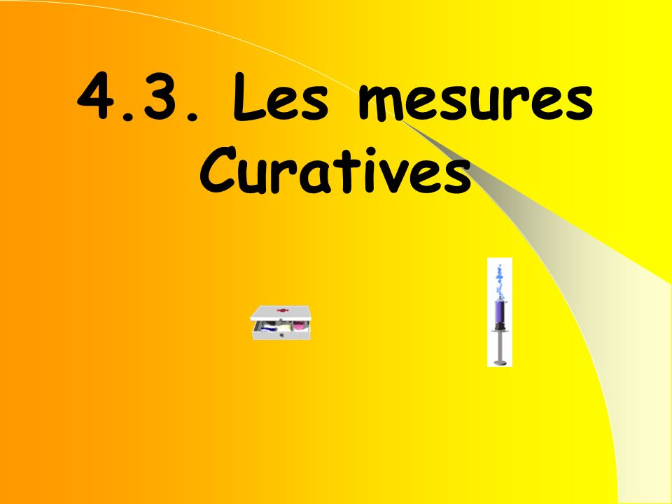 4.3. Les mesures Curatives