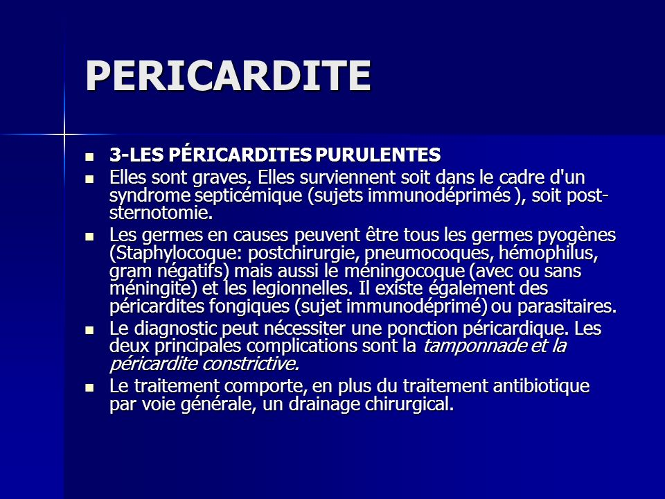 PERICARDITE 3-LES PÉRICARDITES PURULENTES